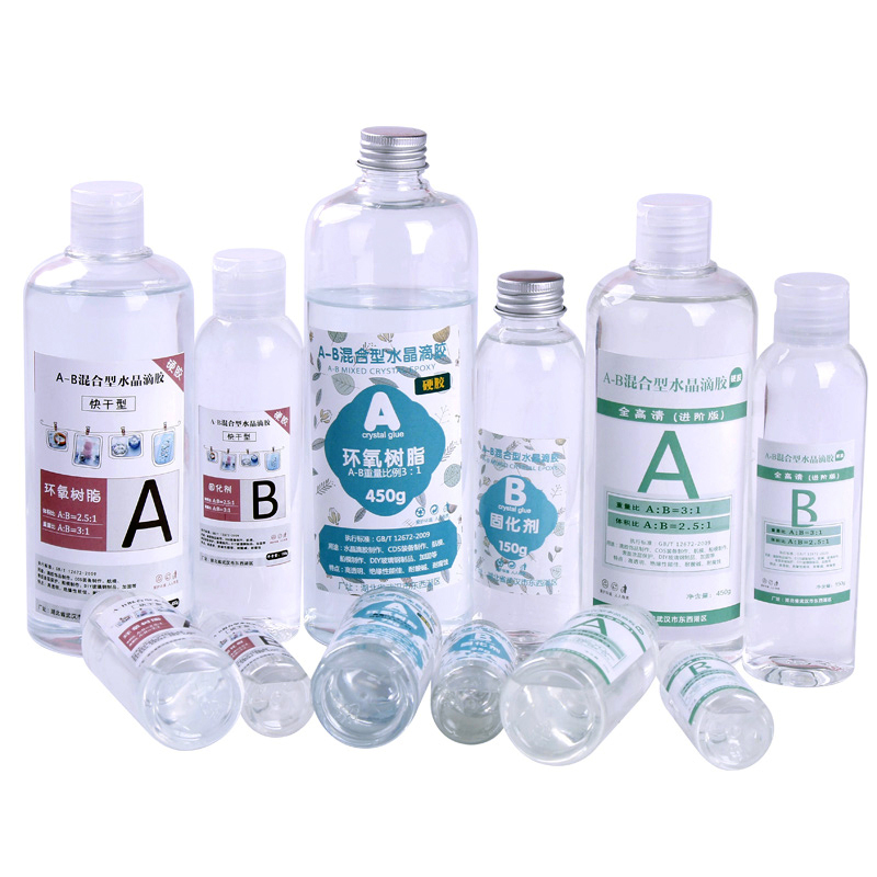 Transparent Resin Epoxy Resin High Transparent AB Glue Epoxy Resin Mold Material Crystal Glue Resin Jewelry Specimen Mold Making