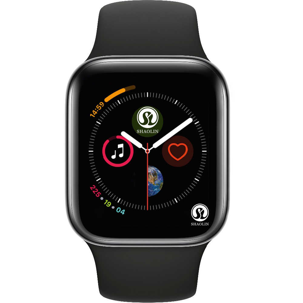 50% de descuento en reloj inteligente de serie 4 con Bluetooth para Apple iOS iPhone Xiaomi teléfono inteligente Android no Apple Watch (botón rojo)
