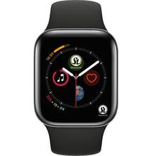 50% قبالة بلوتوث ساعة ذكية سلسلة 4 SmartWatch لابل iOS آيفون شاومي أندرويد الهواتف الذكية لا أبل ساعة (زر أحمر)