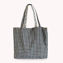 Frauen Tragbare Tuch Floral Plaid Print Einkaufen Handtasche Tote Einfache Lebensmittel Picknick Reise Mode Mittagessen Großen Kapazität Dual Verwenden Sh