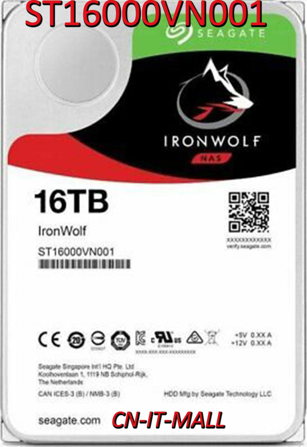 Seagate IronWolf ST16000VN001 16TB NAS 7200 RPM 256MB Cache SATA 6.0Gb/s 3.5