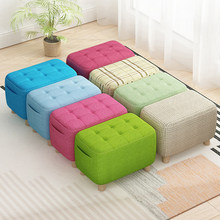 Nordic Colorful Fabric Stools Modern Sofa Small Stool Home Furniture for Living Room Shoes Store Footstool Chair Bench Ottoman