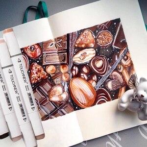 Image 5 - TOUCHNEW, juegos de marcadores artísticos, 30/40/60/80/168 colores, diseño de Anime para estudiantes, dibujar Manga de doble punta, marcador de Alcohol para dibujo
