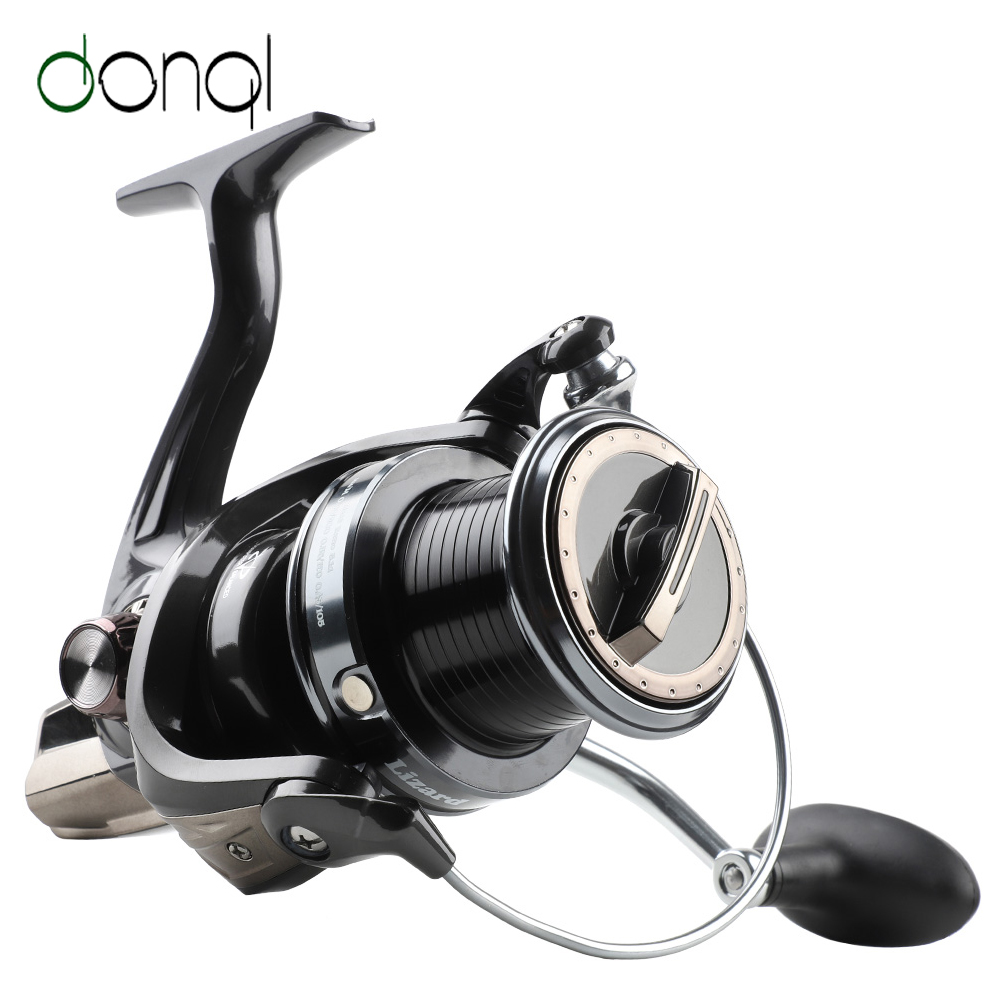 DONQL Guid Rod Structure Spinning Reel 15kg Max Drag Fishing Reel 5000-10000 Series 12+1 BB Saltwater Fishing Coil Accessories
