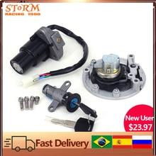 Motorcycle Ignition Switch Seat Lock Key Fuel Gas Cap Set For YAMAHA TZR125 TZM150 TZR150 TDM850  TZR TZM TDM 125 150 850