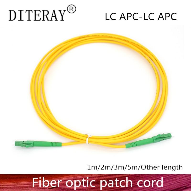 LC/APC Fiber Optic Patch Cord Cable LC-LC 1/3/5/10/20/30M Jumper Single Mode Simplex 2.0mm Optical Fibra Optica FTTH