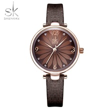 купить SK watch women watches luxury famous brand brown watch for woman montre femme ladies wristwatch reloj mujer relogio feminino по цене 879.09 рублей