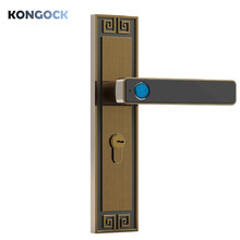 Biometric fingerprint smart indoor lock, keyless electronic wooden door lock for Home and office and Hotel with back-up key biometric electronic smart door lock fingerprint keyless code lock smart with 4 cards 2 mechanical keys for entry office home