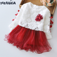 Menoea Baby Clothing Sets 2020 Long Sleeve Baby Girls Clothes Cute Lace with Flowers Kids Embroidery Party Princess Clothes 2pcs menoea baby outerwear