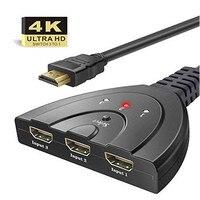 4K кабель-разветвитель HDMI 3 в 1out 4096 3840 Full 1080p видео высокой четкости HDMI переключатель дисплей для HDTV DVD PS3 Xbox топ продаж