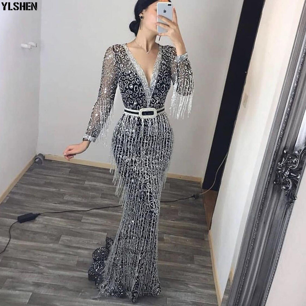 New Style Africa Dress African Dresses For Women Dashiki Fashion Tassel Long Sleeves Bodycon Daily Dress Evening Party Dress