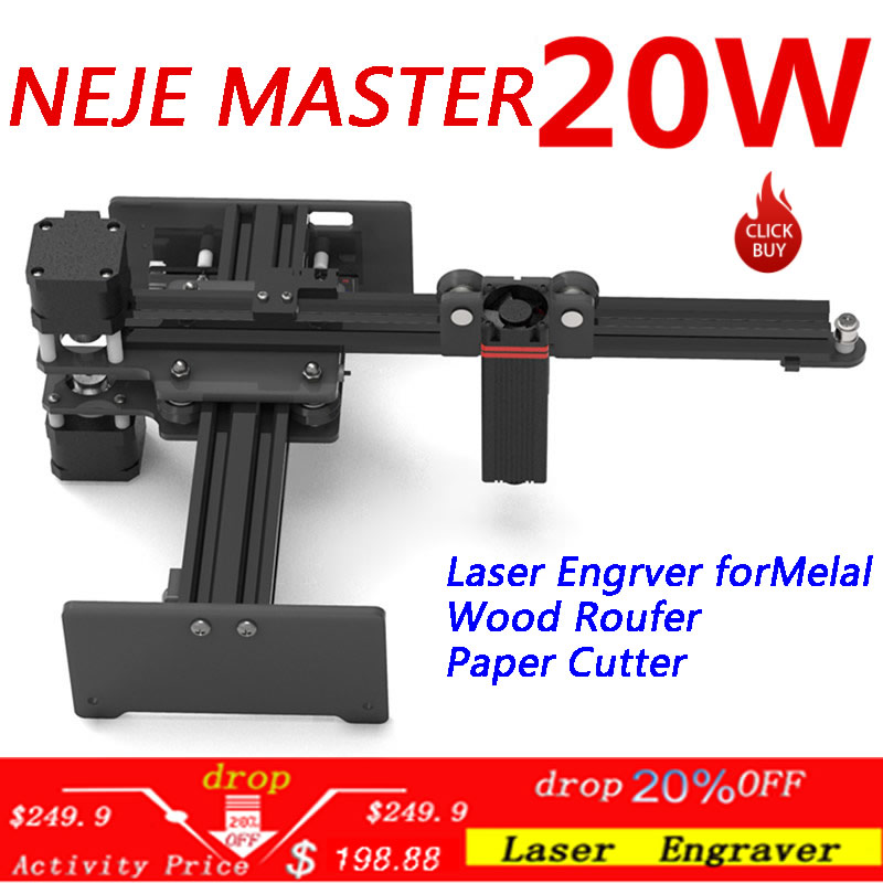 NEJE Master <font><b>20W</b></font> CNC <font><b>Laser</b></font> Engraving Machine/<font><b>Laser</b></font> Engraver for Metal/Wood Router/Paper Cutter/2Axis Engraver/<font><b>Cutting</b></font> Machine image