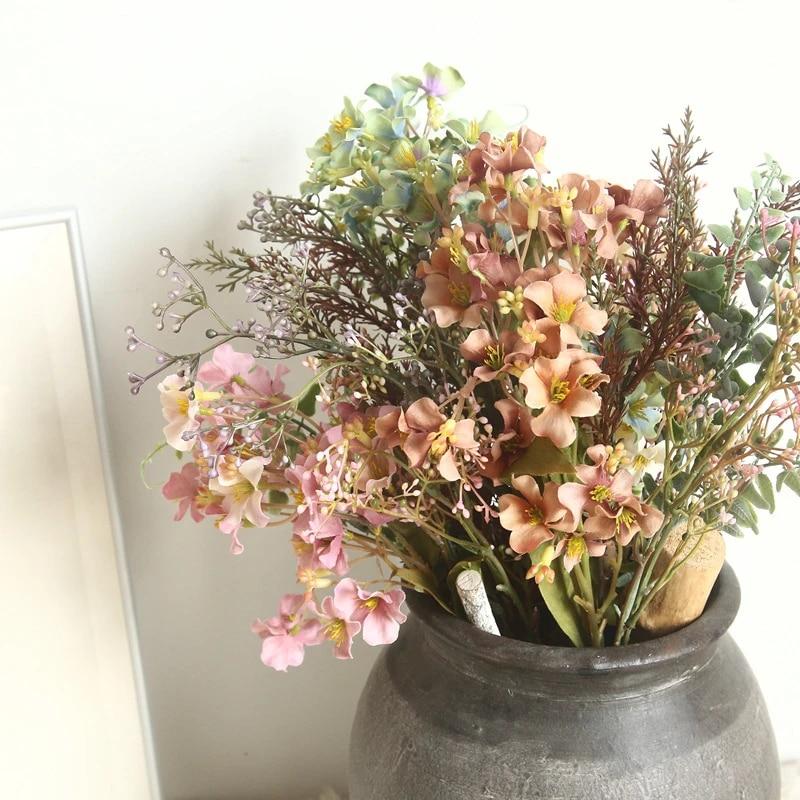 Kunstblumen Artificial Flower Decoracion Bloemen Decoratie Planta Box Fleur Silk Flowers Blumen Matrimonio Flor Decoration Hogar Artificial Dried Flowers Aliexpress