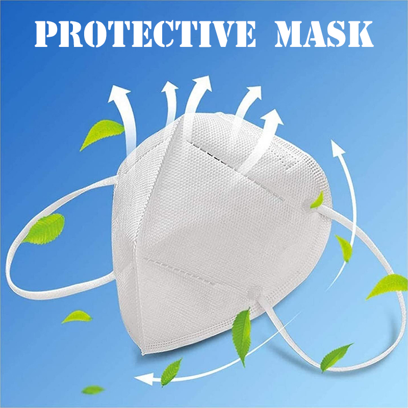 10 Pcs Protective Face Mask Respirator Filters Anti Pollution Face Cup Mask Respirator With Active Carbon Fold Flat Dust Mask