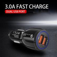 Car Electronics Fast Car Charger Adapter 39W 6A Dual USB QC 3 0 for iPhone 8 XS MAX Samsung ect Car Electronics Accessories cheap choifoo CN(Origin) 8X3X3cm CY196210 5V 3 1A USB2 0 PC + ABS fire Fast charging DC12-32V 5V6A 9V2A 12V1 6A black white