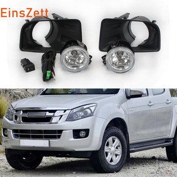 Car Fog Light Assembly kit For ISUZU D-MAX 2012 2013 2014 Front Bumper Lamp 12V Halogen Bulb Day Light with Switch Cover