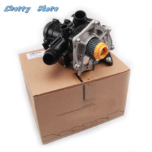 NEW 06K 121 011 B Electronic Water Pump & Thermostat Housing Assembly For Audi A4 A6 Q5 Q7 TT  VW Golf MK7 1.8/2.0TFSI 3rd EA888 ymm oem engine coolant water pump 06l 121 012 a for audi a3 s3 a4 a6 a8 q5 q7 vw golf mk7 passat b8 jetta ea888 mk3 1 8 2 0t
