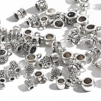20-200pcs Flower Silver Plated Loose Tube Bead Spacer Beads For Jewelry Making Charms DIY Bracelet Necklace Accessories - discount item  10% OFF Jewelry Making