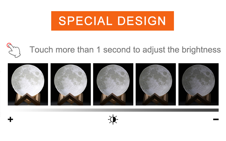 3D Print Moon Lamp for Creative Home Decor with Changing Color 9
