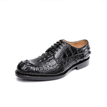 ouluoer Derbies Imported crocodile skin  Men's crocodile leather shoes  Goodyear black shoes  business  Formal Oxford man shoes цены онлайн