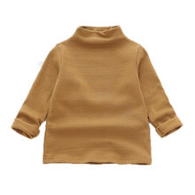 Осень Детские футболки с длинными рукавами для девочек высоким
