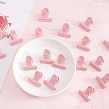 5 шт% 2Flot Ctue Pink Round папка зажимы металл бумага зажимы органайзер папка заметки письмо зажим зажим kawaii Office School Supplies