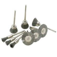 Brosses métalliques en fil de cuivre, brosse métallique pour enlever la rouille, brosse de polissage pour meuleuse rotative Dremel, accessoires d'outils électriques 15