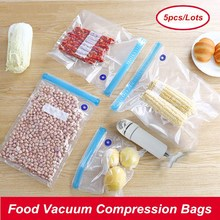 Food-Vacuum-Sealer-Bags-Machine Sealing Fresh-Seal Always Handy Kitchen Portable 5pcs
