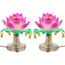 2 шт/компл buddhistic lotus лампы Красочные лотоса настольные