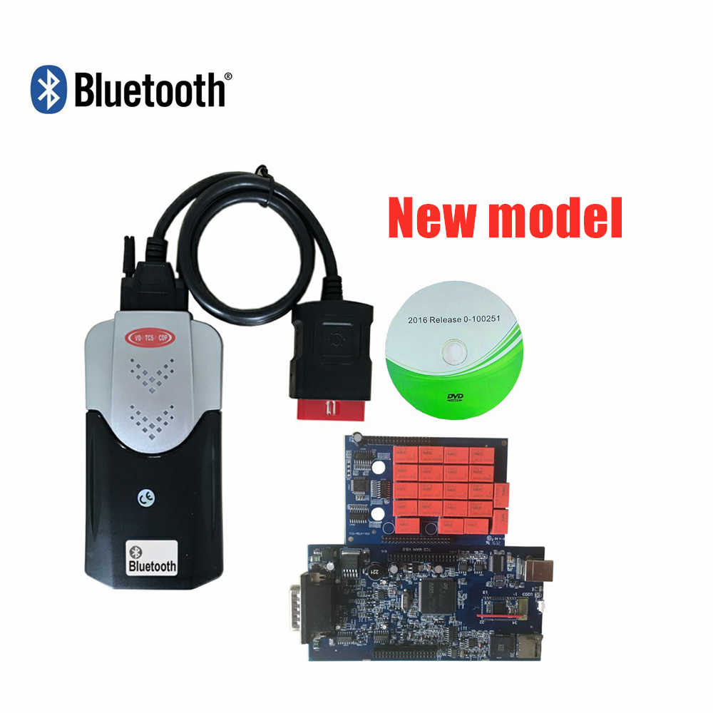 Mới VCI Xanh Dương PCB Nguyên Vỏ Có Bluetooth/USB Cáp V5.008R2/2016R0 Keygen Công Cụ Chẩn Đoán Cho OBD Xe Ô Tô xe Tải Máy Quét