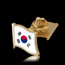 Korean Flag Enamel Pin Fluttering Flag Pin Brooches for Shirt Bag Cap Coat Lapel Pin Buckle Badge