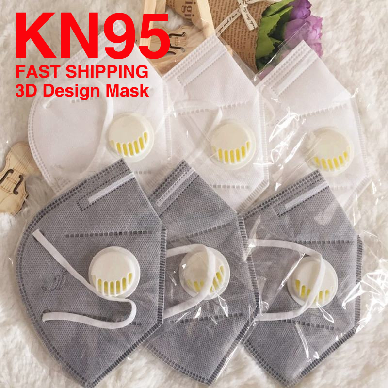 KN95 Face Mask For Adult Kids PM25 Respirator Anti Haze Dust Virus Mouth Masks With Breathing Valve For Disposable Pad Filter