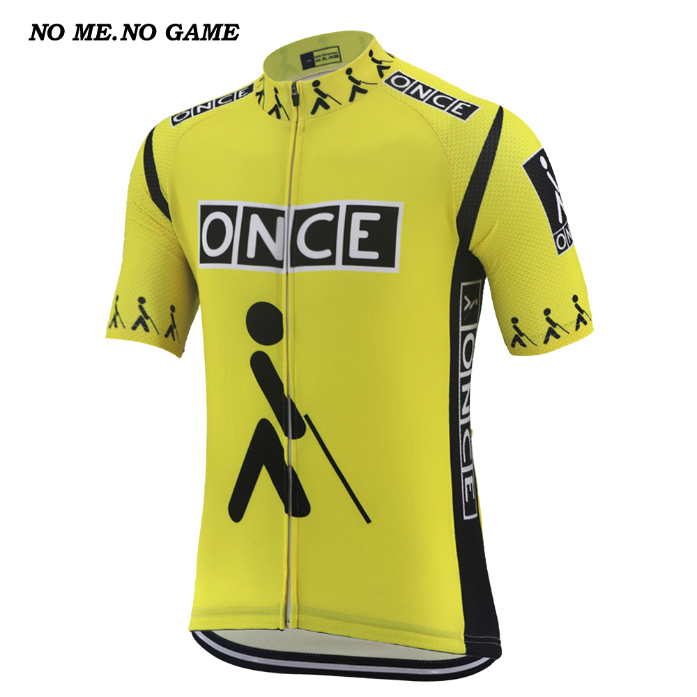 Image 2 - Custom cycling jersey retro men tops pro yellow black kits tour mtb road bike wear clothing Quick Dry Anti sweat 100% Polyester-in Cycling Jerseys from Sports & Entertainment