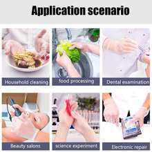 100PCS Protection Safety Guantes virus Disposable Gloves S M L XL Size Food Dishwashing Gloves For Women Medical Anti infecton