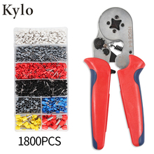 Crimper Plier Set 0.25-10mm2 Self-adjustable Ratchat Wire Crimping Tool with 1800 Wire Terminal Crimp Connector Insulated