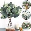 Искусственные листья эвкалипта, стебли, ветки эукалипта, искусственные растения для цветочных букетиков, Свадебный праздник, зелень, Декор