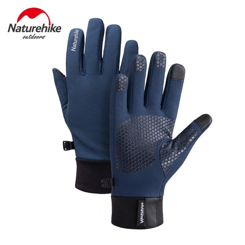 Naturehike Neue Winter Radfahren Sport Handschuhe samt warme Outdoor Sport Handschuh Touchscreen Wasserdicht Nicht-slip silikon Handschuh