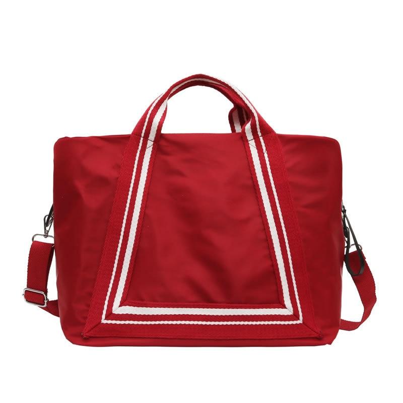 Women Fashion Big Travel Bag Waterproof Nylon Duffle Bag Large Capacity Shoulder Handbags Girl Pink Weekend Bags Luggage Bags