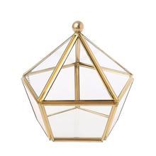 خمر مجوهرات الزخرفية هندسية Terrarium صندوق صندوق تخزين حلقة قلادة على شكل صندوق أساور أقراط مجوهرات الزفاف صندوق