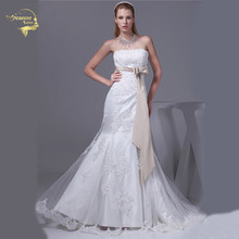 Jeanne Love 2017 New Arrival Wedding Dresses Robe De Mariage Soft Tulle Beading Mermaid Bridal Gown Vestido De Novia JLOV75900 jeanne love mermaid wedding dresses 2018 bridal dress satin applique lace beading cover high neckline robe de mariage jlov75958