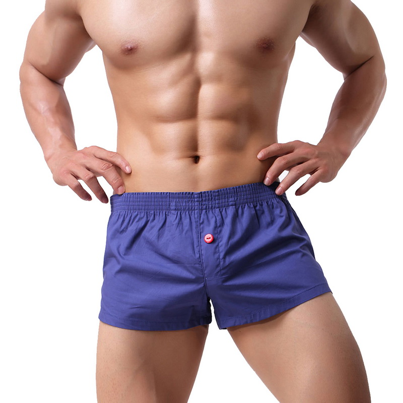 Summer Casual Board Shorts Men Cotton Solid Soft Boxer Shorts Breathable Quick Dry Mens Breathable Elastic Waist Shorts