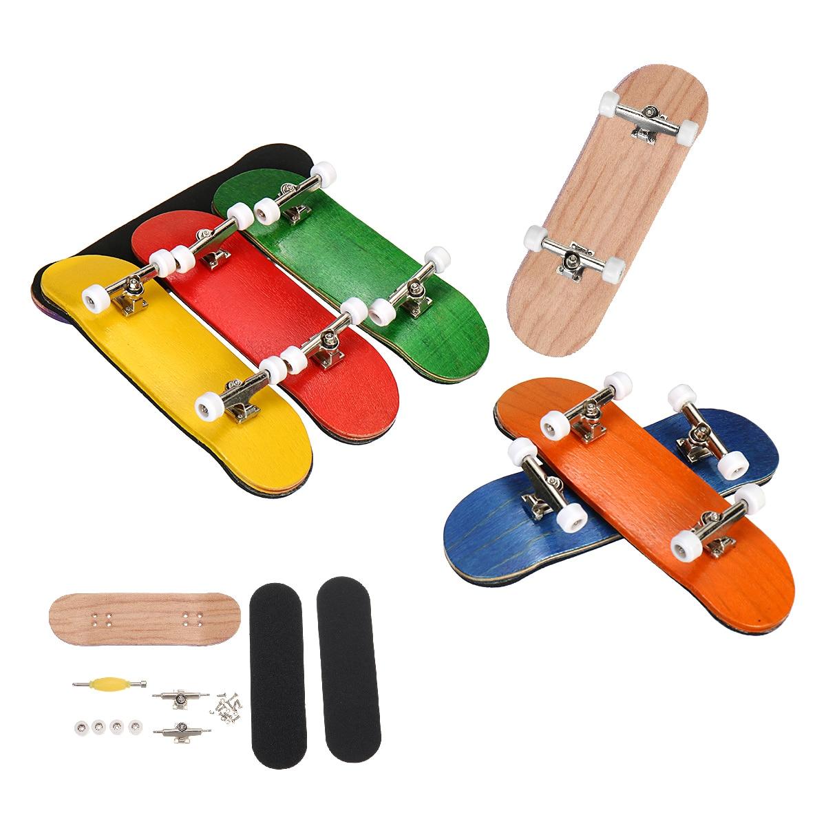 Wooden Fingerboard Skateboard Children Deck Sport Game Gift Maple Finger Toy For Adults Kids