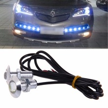 цена на 1 Pair DC 12V 23mm Eagle Eye LED Daytime Running DRL Light Car Auto Lamp Blue