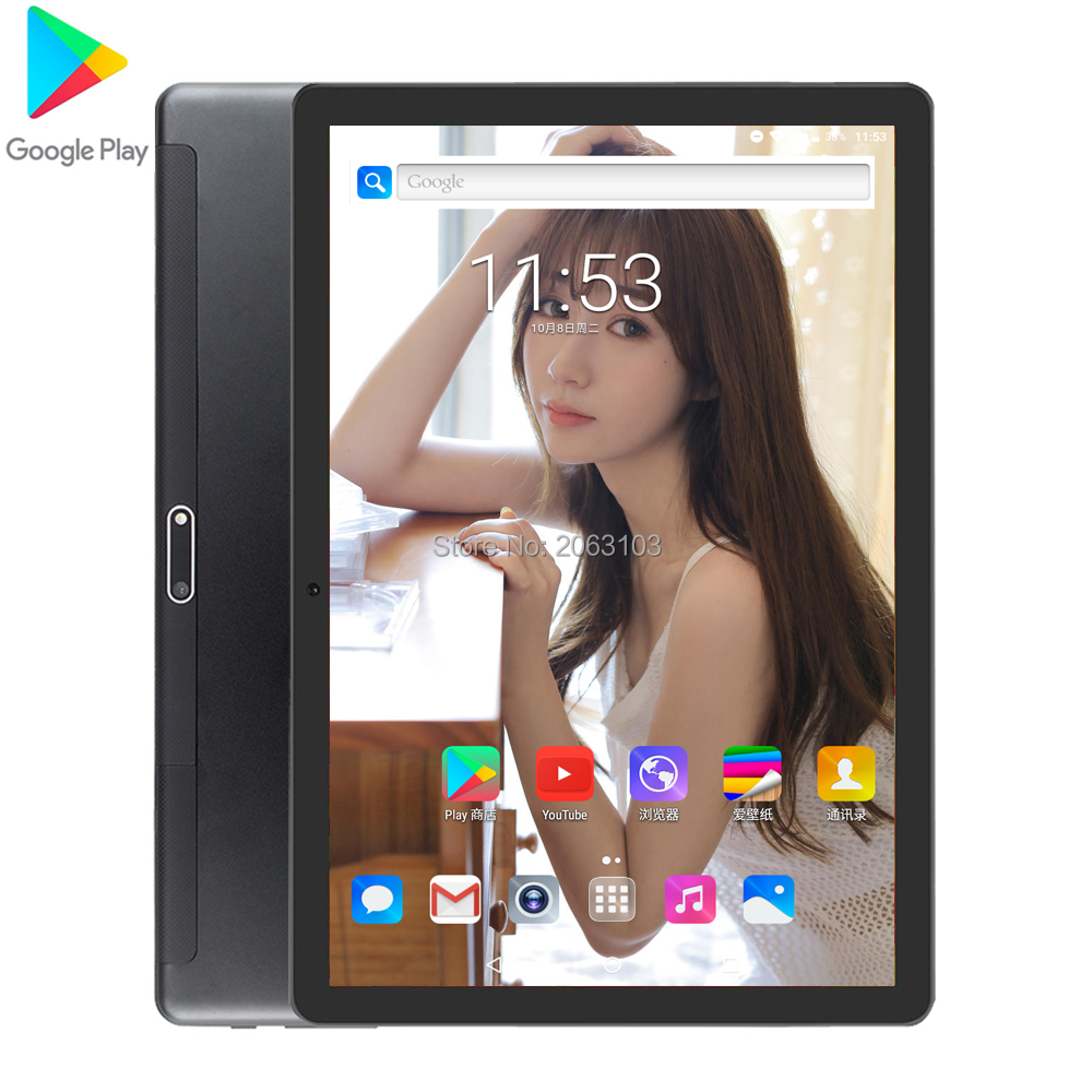 Newest 10 Inch Tablet Android 7.0 Quad Core 2GB RAM 32GB ROM 3G Wifi Bluetooth GPS Phone Call Glass Screen Tablet Pc