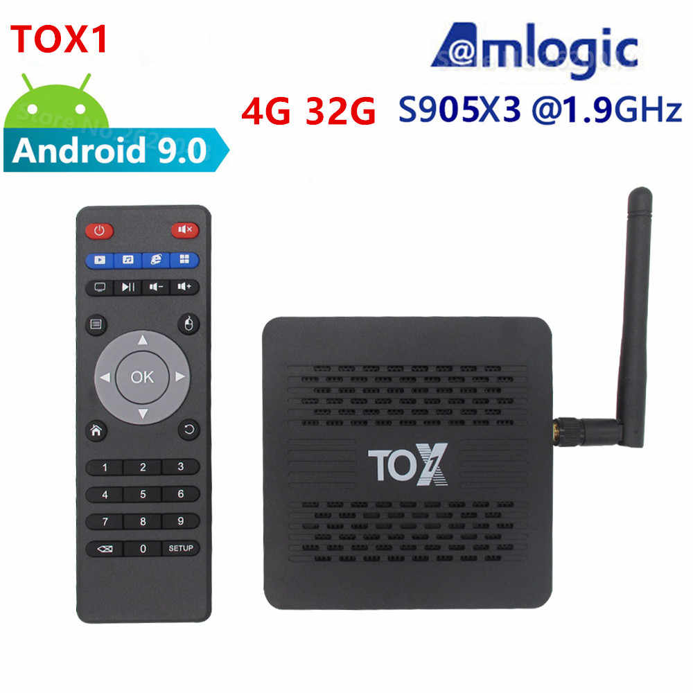 SZกล่องTox1 Amlogic S905X3 Android 9.0 TV BOX 4GB Rom 32GB 2.4G/5G WiFi HDMI(1.4และ2.0) 1000M LAN 4K HD Media Player X3 Pro