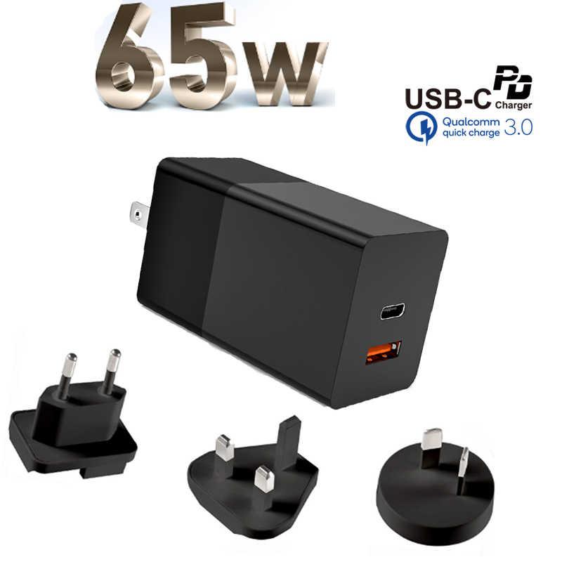 65W GaN настенное зарядное устройство Quick Charge 3,0 QC3.0 PPS SCP AFC PD 3,0 PD USB-C Type C быстрое зарядное устройство USB для Macbook Pro iPhone Samsung
