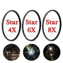 KnightX Star line 4x 6x 8x Camera Lens Filter For canon sony nikon 700d d80 500d d5300 18 200 d5100 49 52 55 58 62 67 72 77 mm
