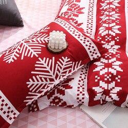 Gorąca dekoracja w kształcie płatka śniegu boże narodzenie śnieżynka pościel poduszka pokrywa zestaw pościeli domu do sypialni L99|Kołdra|Dom i ogród -