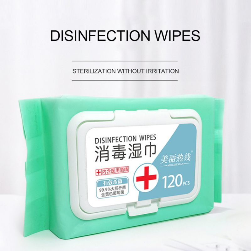 120PCS Portable Professional Alcohol Swabs Pads Wet Wipes 70% Isopropyl First Aid Home