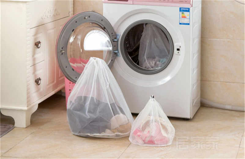 Wasserij Mesh Zakken Koord Netto Wasserij Saver Mesh Wassen Pouch Sterke Wasmachine Dikker Netto Zak